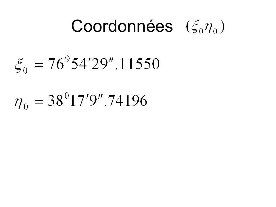 Coordonnées