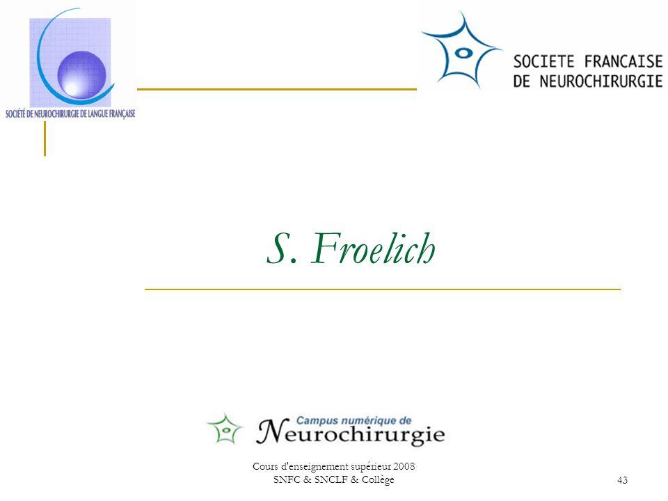Cours d enseignement supérieur 2008 SNFC & SNCLF & Collège43 S. Froelich