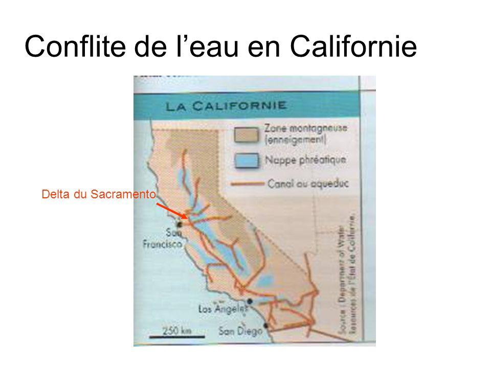 Conflite de leau en Californie Delta du Sacramento