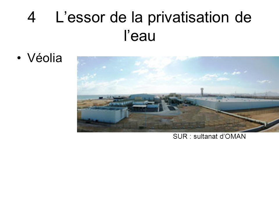4Lessor de la privatisation de leau Véolia SUR : sultanat dOMAN