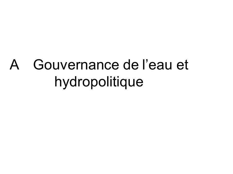 AGouvernance de leau et hydropolitique