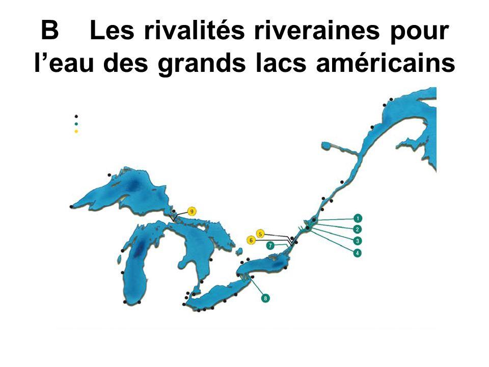 BLes rivalités riveraines pour leau des grands lacs américains