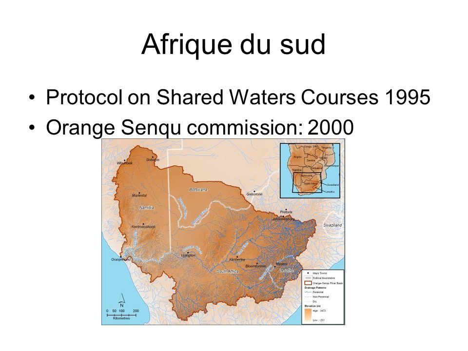Afrique du sud Protocol on Shared Waters Courses 1995 Orange Senqu commission: 2000
