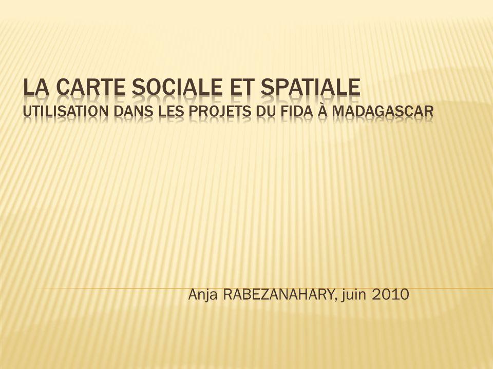 Mieux connaître le contexte de pauvreté dans les zones dintervention des 4 projets en utilisant lApproche des Moyens dExistence Durable 35 communautés villageoises ont été enquêtées donc 35 cartes ont été dessinées