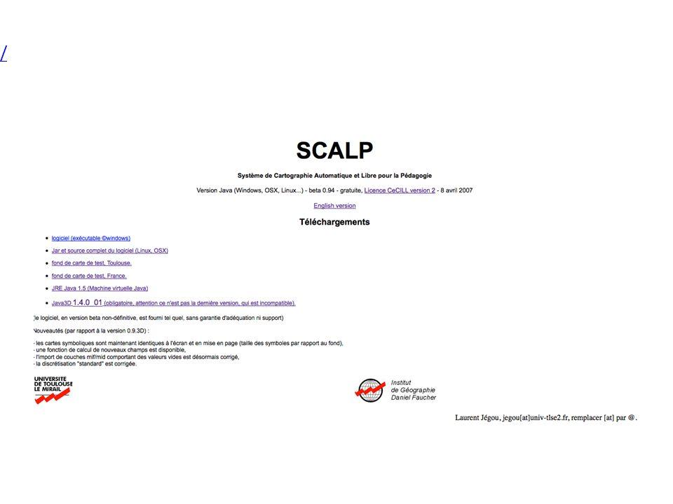 Site de téléchargement : http://w3.geoprdc.univ-tlse2.fr/scap/java/ http://w3.geoprdc.univ-tlse2.fr/scap/java/