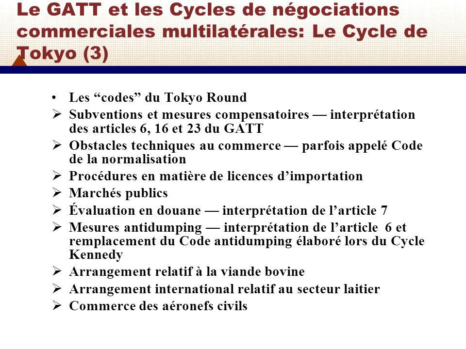 Les Codes du Cycle de Tokyo Ce nétaient pas des instruments multilatéraux mais cétait un début.
