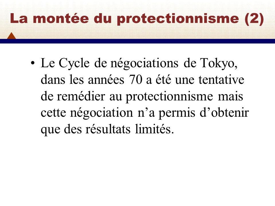 Moderniser le GATT (1) Le problème ne se limitait pas à la dégradation du climat en matière de politique commerciale.