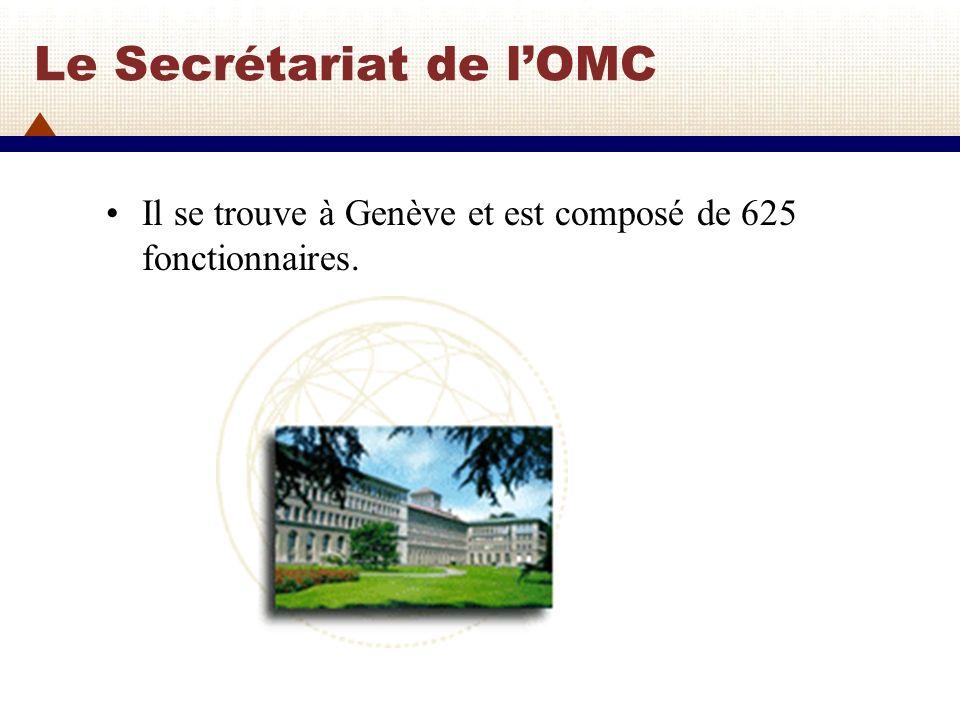 Le Secrétariat de lOMC (2) Depuis 2005, Pascal Lamy de France est le Directeur général.