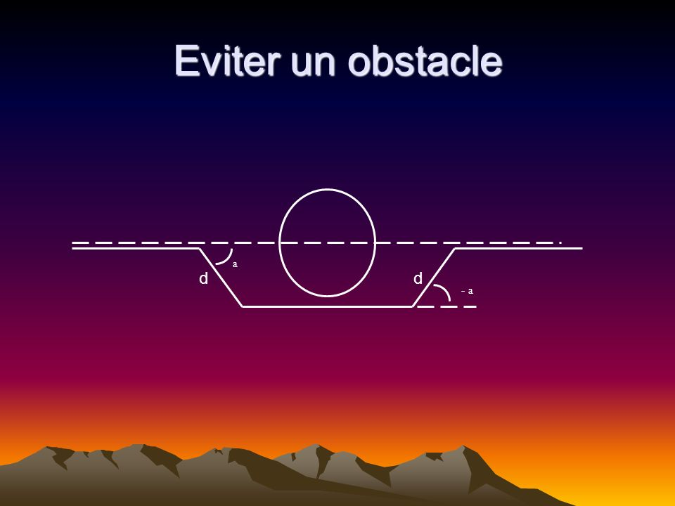 a - a Eviter un obstacle dd