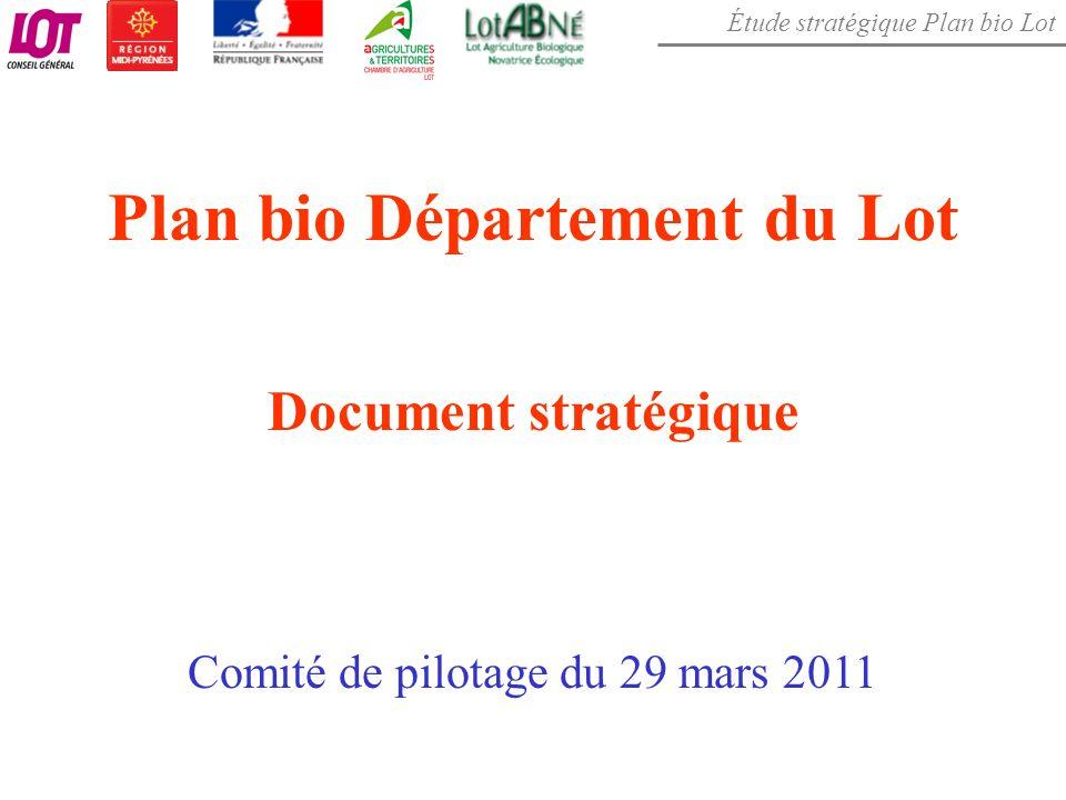 Étude stratégique Plan bio Lot Plan bio Département du Lot Document stratégique Comité de pilotage du 29 mars 2011
