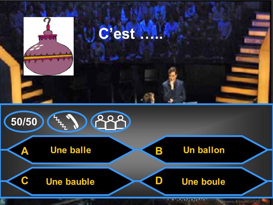 Template by Bill Arcuri, WCSD Une carte Cest … Un cadeauUn Père Noël Une card 50/50 A CD B