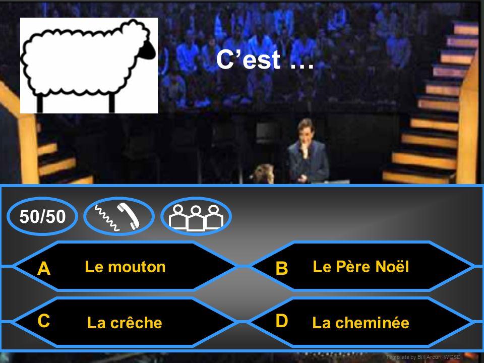 Template by Bill Arcuri, WCSD La crêche Cest.. La carteLarbre de Noèl La cheminée A CD B 50/50
