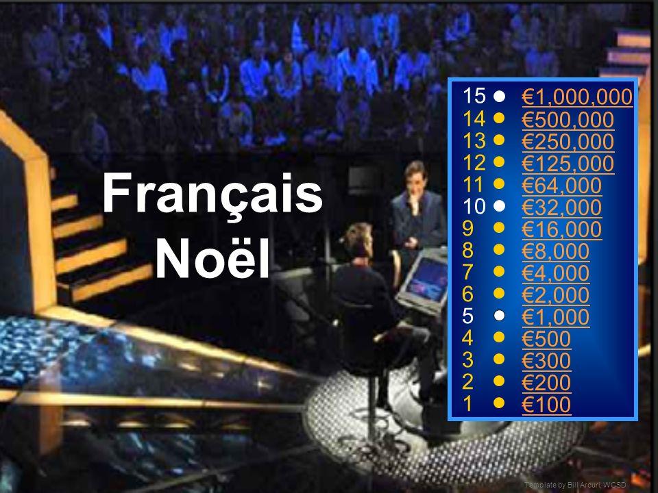 Template by Bill Arcuri, WCSD Français Noël 15 14 13 12 11 10 9 8 7 6 5 4 3 2 1 1,000,000 500,000 250,000 125,000 64,000 32,000 16,000 8,000 4,000 2,000 1,000 500 300 200 100