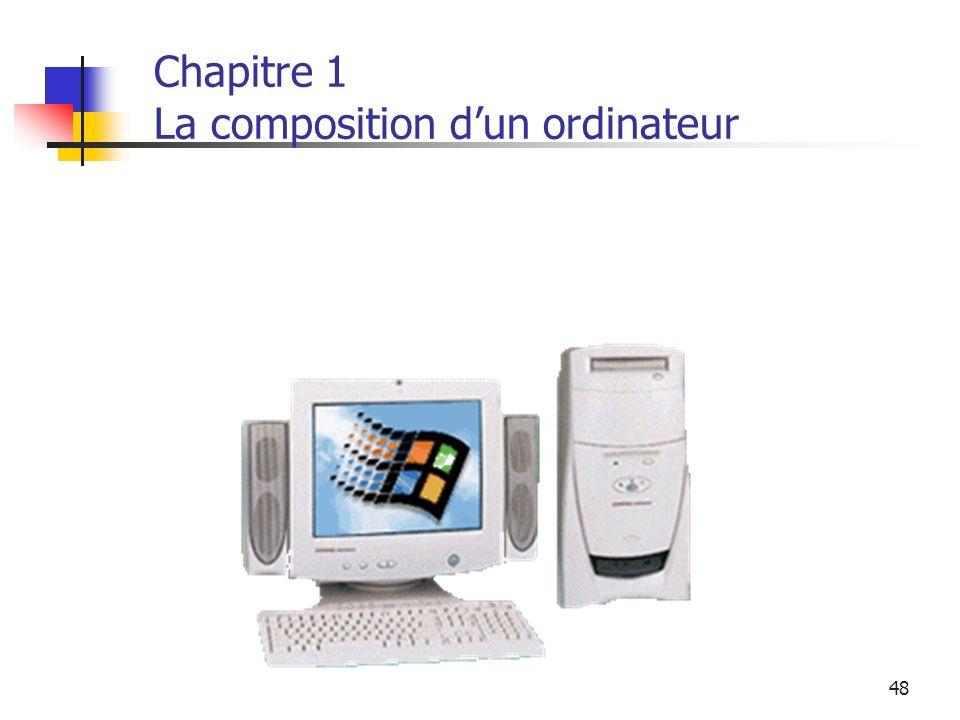 48 Chapitre 1 La composition dun ordinateur