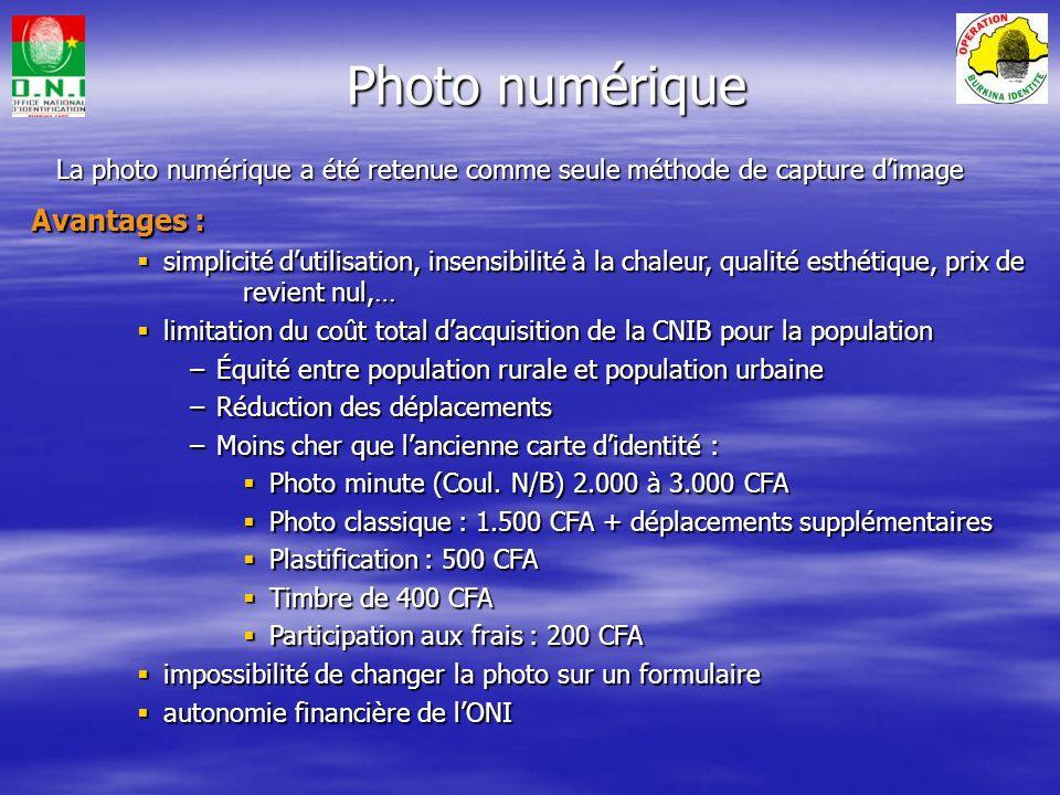 -Il sagit de : -Définir et mettre en place les procédures de collecte des demandes, des photos numériques et de distribution des nouvelles CNIB, -Orga