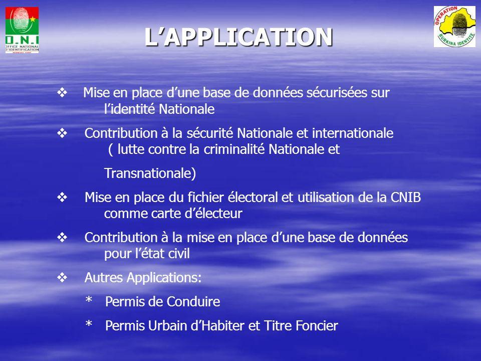 Contribution des partenaires (Techniques et Financier) Coût de la CNIB inférieur à lancienne CIB.