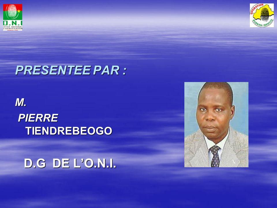 PROJET « BURKINA IDENTITÉ »