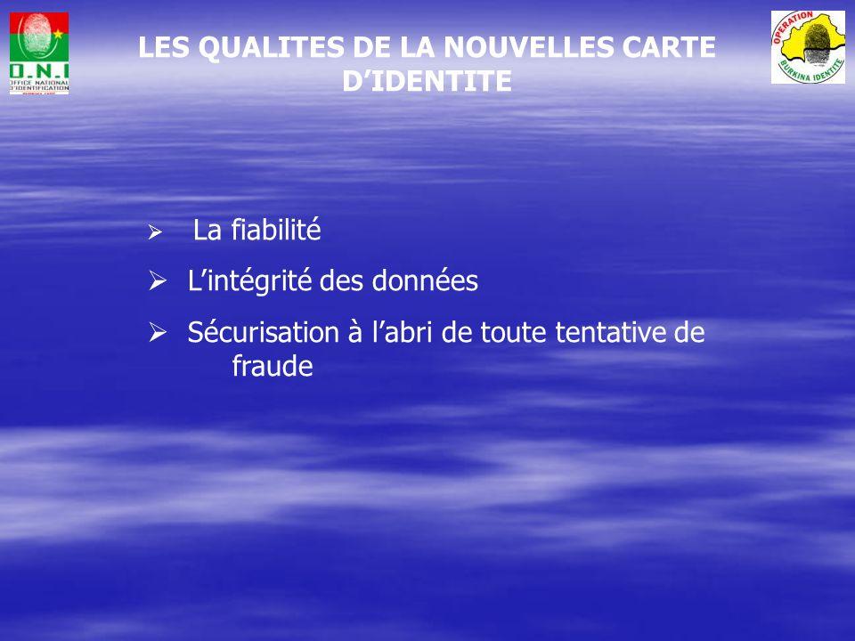 – Spécifications techniques – Organisation logistique – Production de la CNIB Solutions techniques