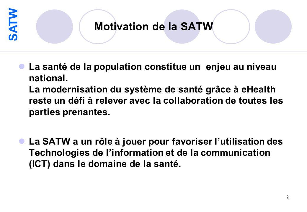 SATW 2 Motivation de la SATW La santé de la population constitue un enjeu au niveau national.