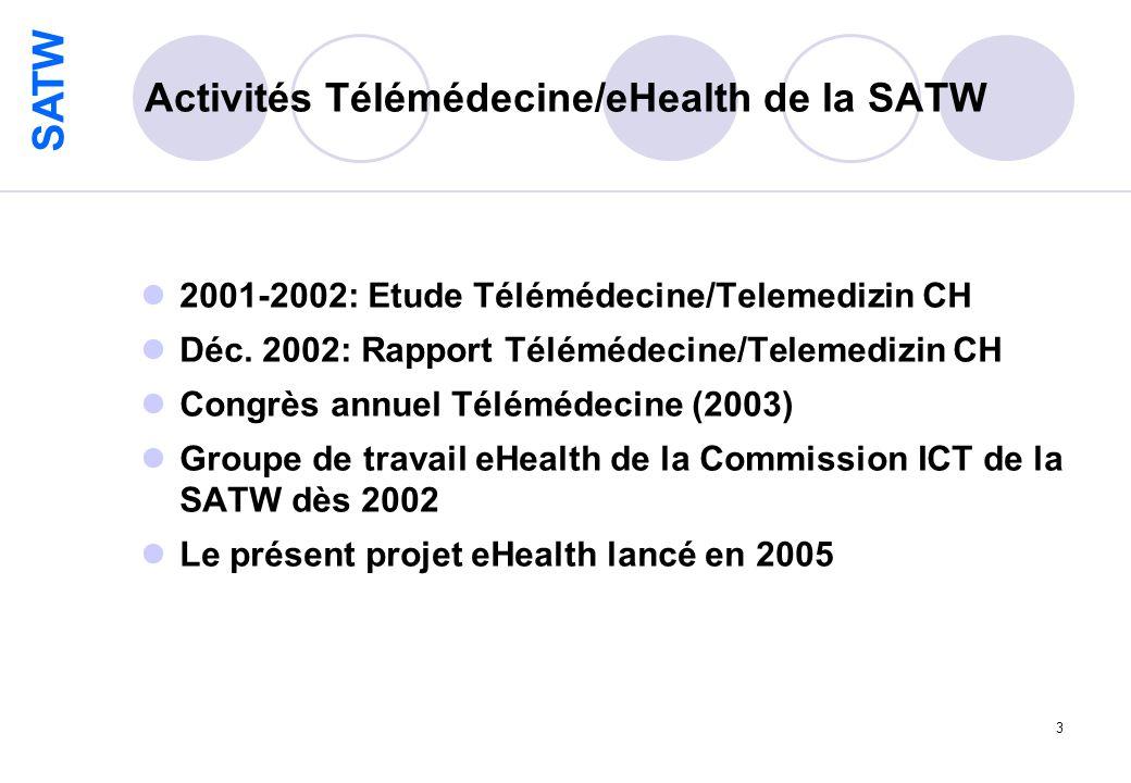 SATW 3 Activités Télémédecine/eHealth de la SATW 2001-2002: Etude Télémédecine/Telemedizin CH Déc.