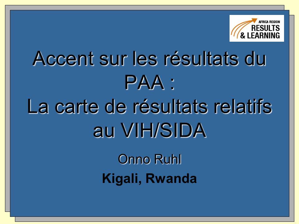 Accent sur les résultats du PAA : La carte de résultats relatifs au VIH/SIDA Onno Ruhl Kigali, Rwanda