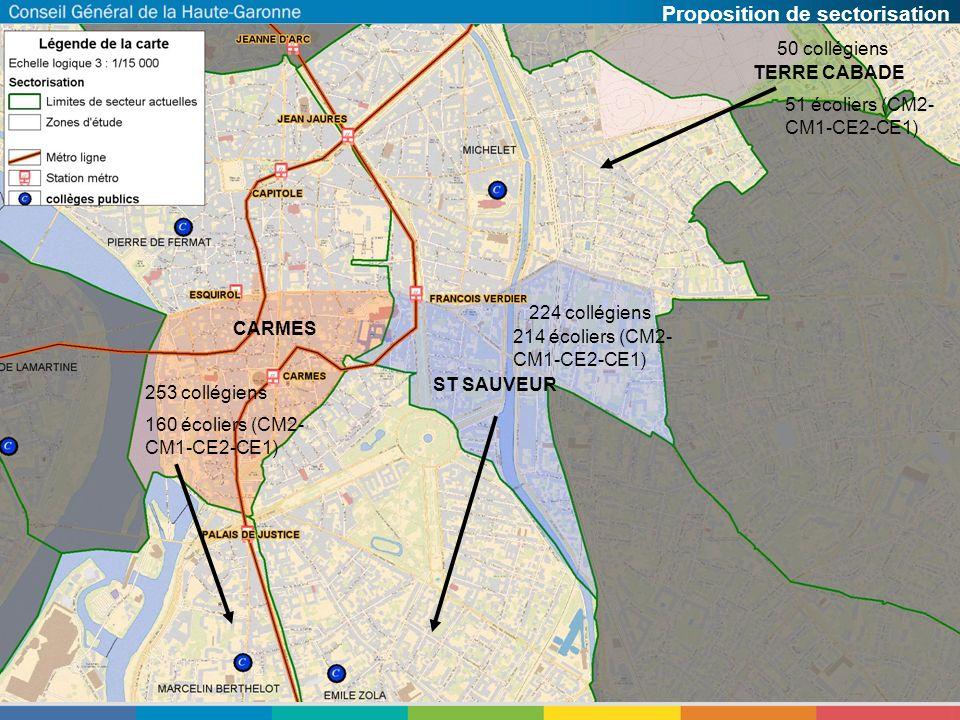 Quartier dEmpalot (sectorisation actuelle) Secteur affecté à Berthelot Secteur affecté à Zola Secteur affecté à Bellevue