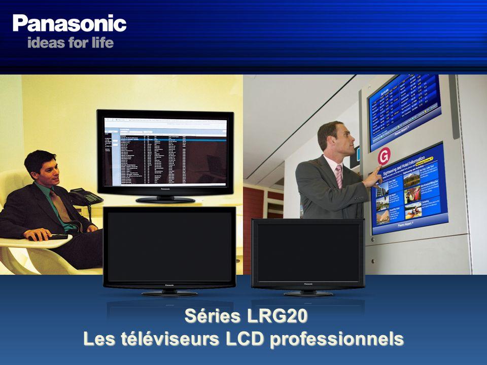 Présentation des Téléviseurs LCD Professionnels Le terminal RS-232C et le terminal IR-through, sur nos moniteurs LCD professionnels, permettent une connection rapide et facile déquipements périphériques.