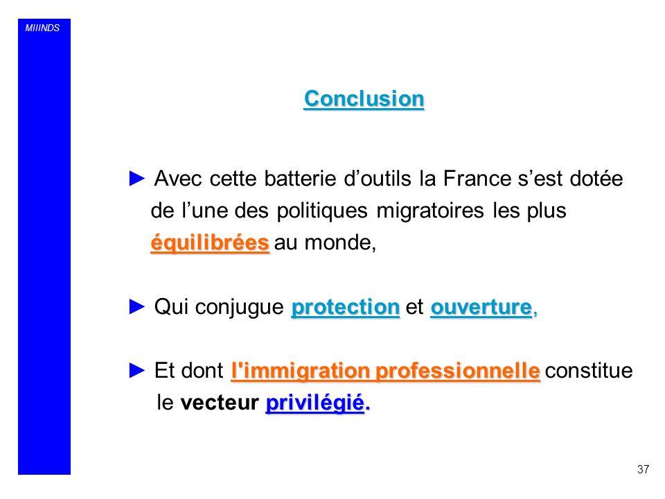 MIIINDS Avec cette batterie doutils la France sest dotée de lune des politiques migratoires les plus équilibrées équilibrées au monde, protectionouver