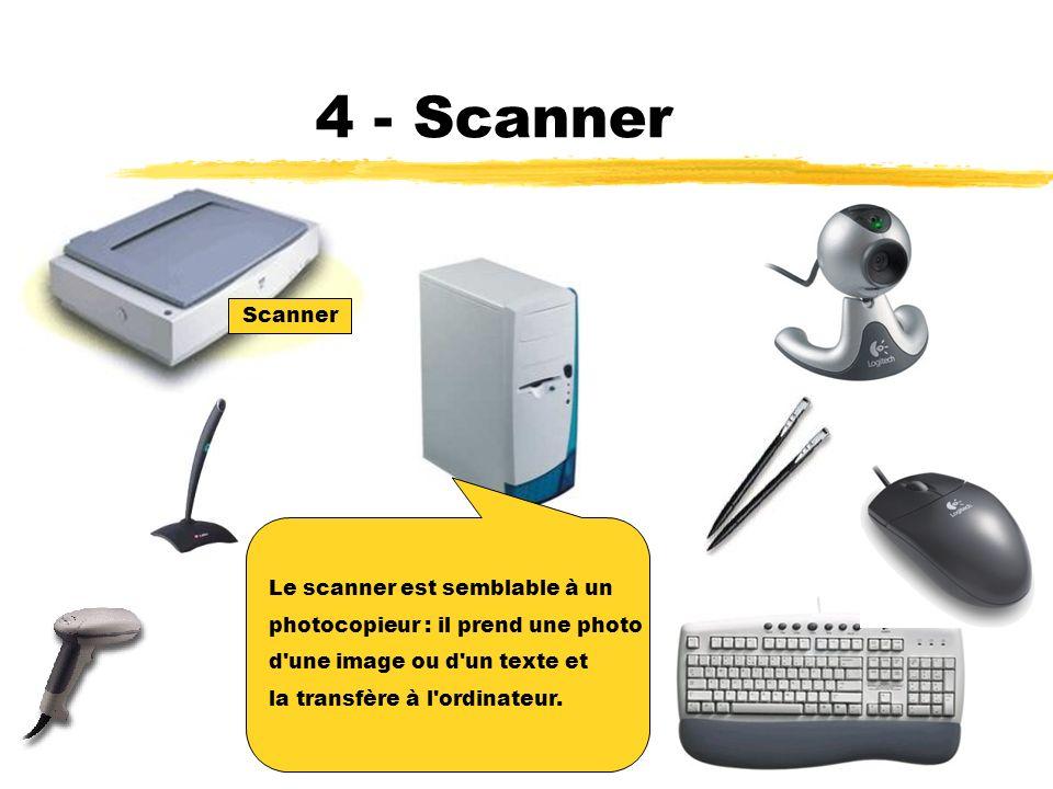 3 - Lecteur optique Le lecteur optique est un dispositif qui est utilisé pour lire les codes barres apposés sur plusieurs produits de consommation Lecteur optique