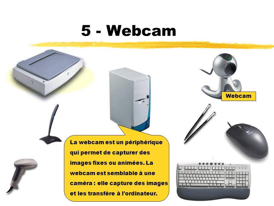 4 - Scanner Le scanner est semblable à un photocopieur : il prend une photo d une image ou d un texte et la transfère à l ordinateur.