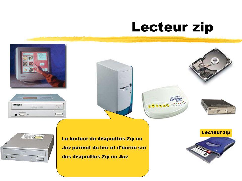 Lecteur disquette Le lecteur de disquettes permet de lire et d écrire sur des disquettes haute densité.