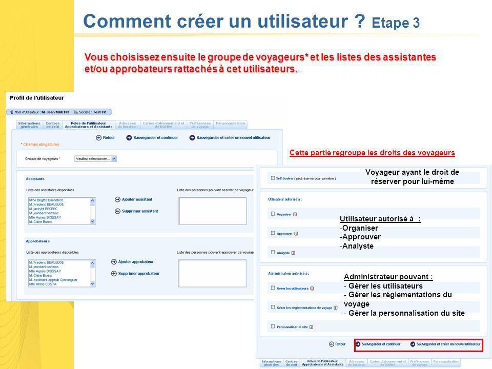 Comment créer un utilisateur .