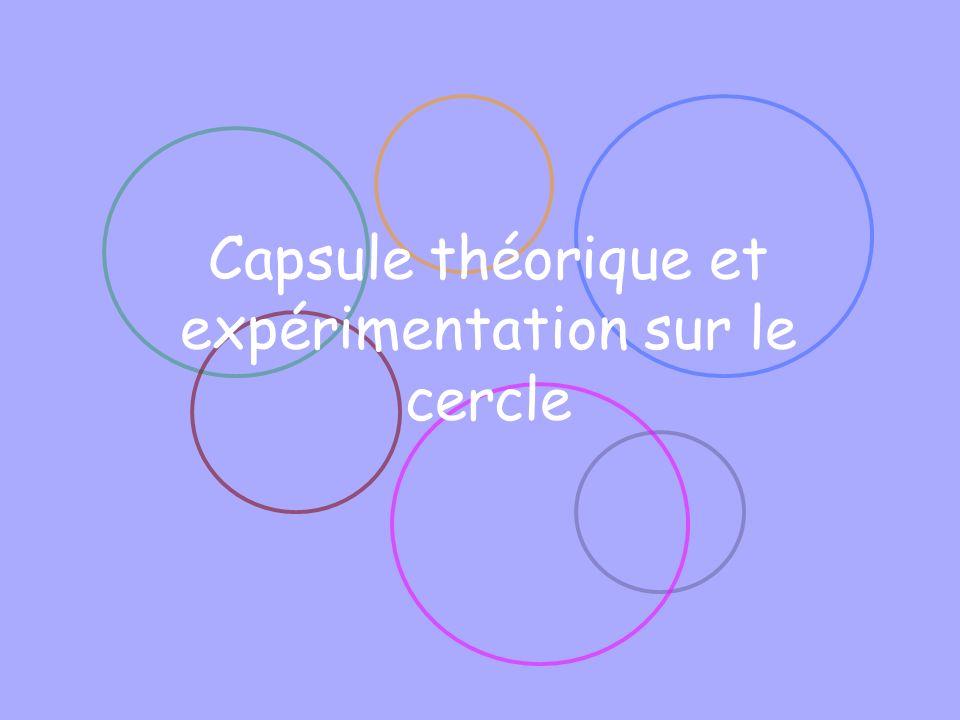 Capsule théorique et expérimentation sur le cercle