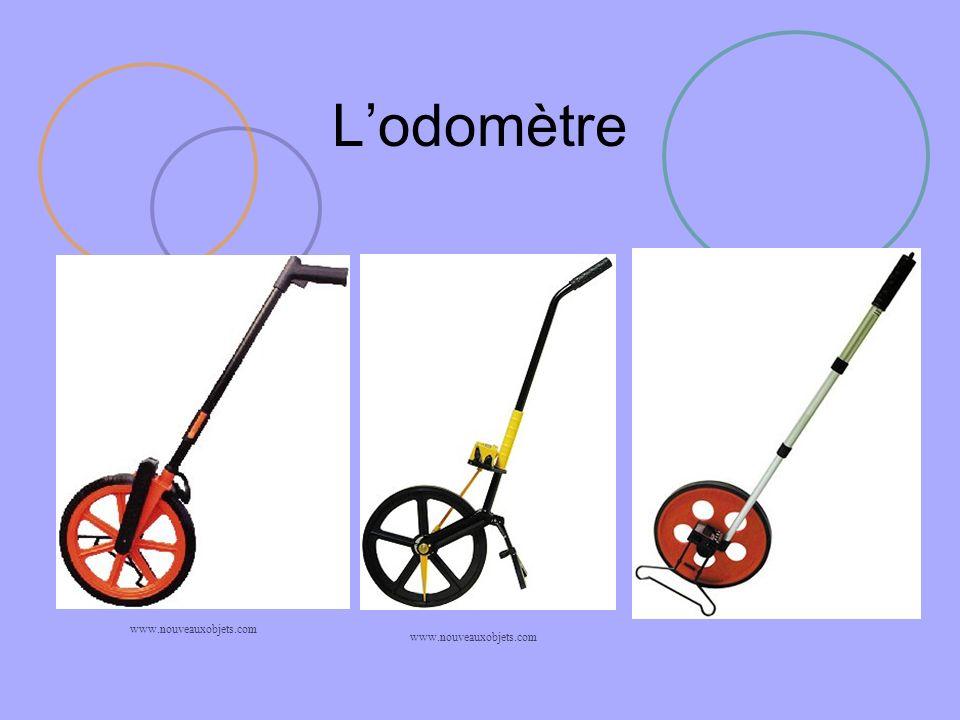 Principe de lodomètre de carte Description du principe La molette roule sur la carte et permet de suivre avec précision un tracé, un parcours.