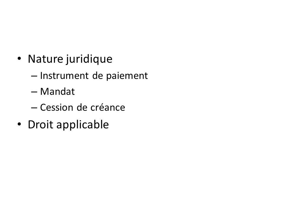 §3 Paiements et recours I – Le paiement A.Conditions B.Réalisation -Procédures traditionnelle -Télécompensation C) Preuve D) Garanties
