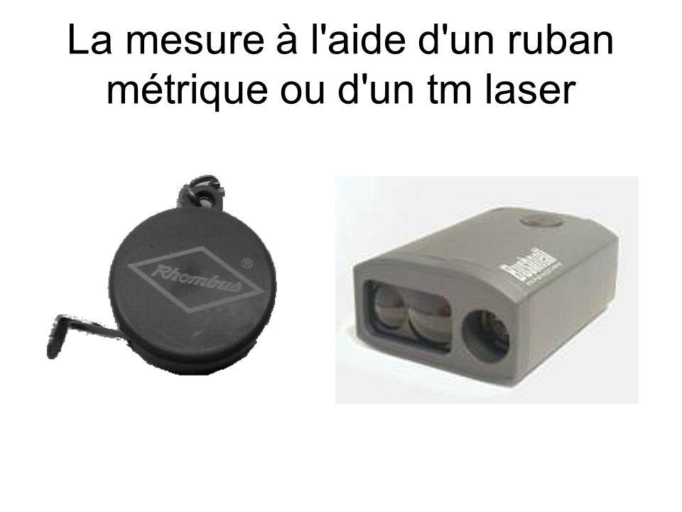 La mesure à l'aide d'un ruban métrique ou d'un tm laser