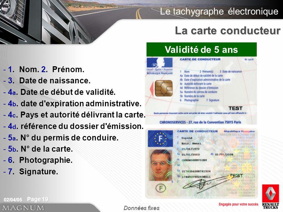 Le tachygraphe électronique 02/04/05 Page 19 - 1.- 1.