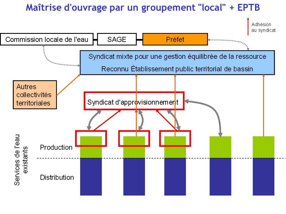 Maîtrise d ouvrage par un groupement à la carte reconnu EPTB