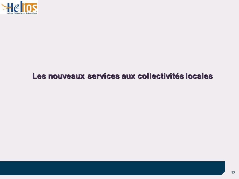 13 Les nouveaux services aux collectivités locales