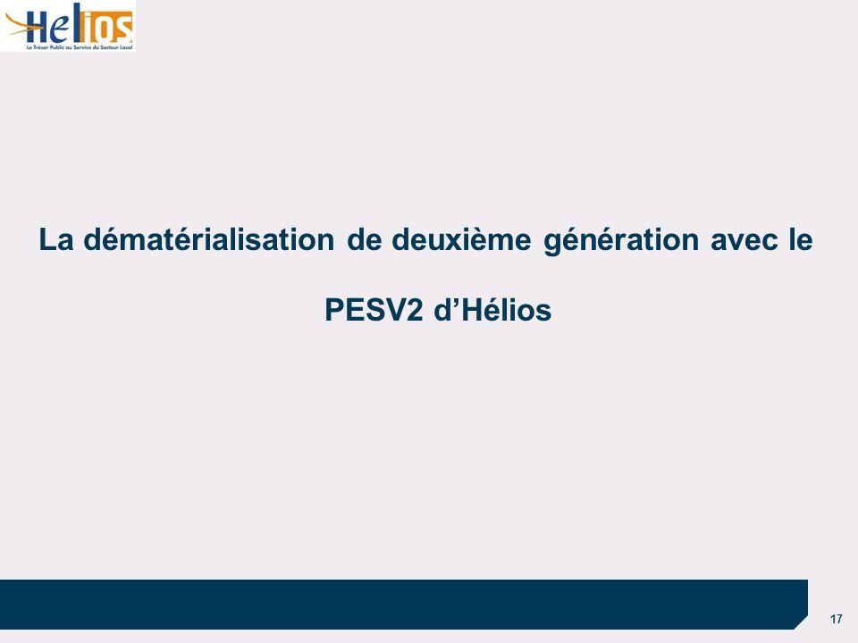 17 La dématérialisation de deuxième génération avec le PESV2 dHélios