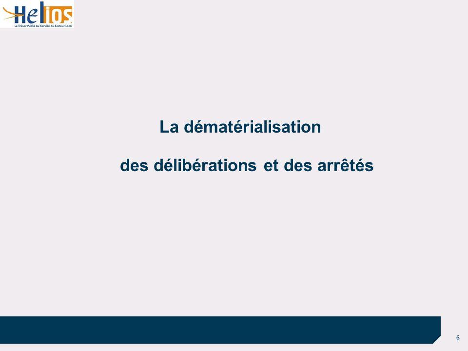 6 La dématérialisation des délibérations et des arrêtés