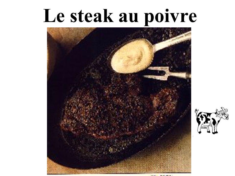 Le steak au poivre