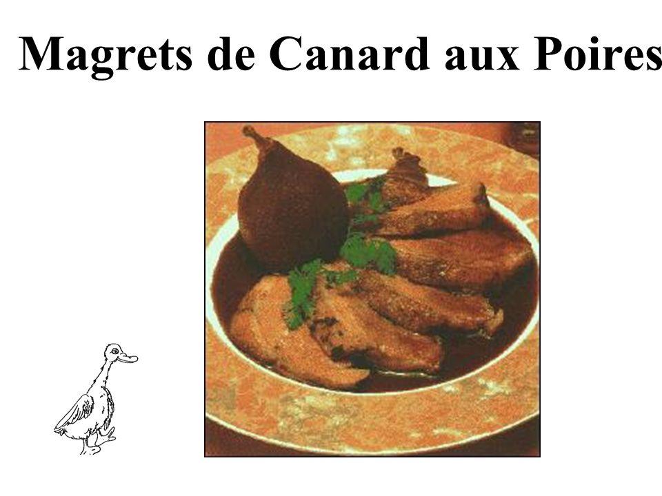 Magrets de Canard aux Poires
