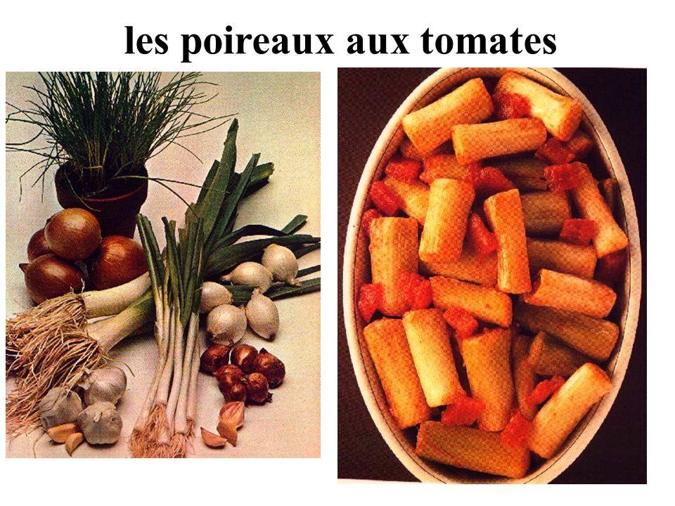 les poireaux aux tomates
