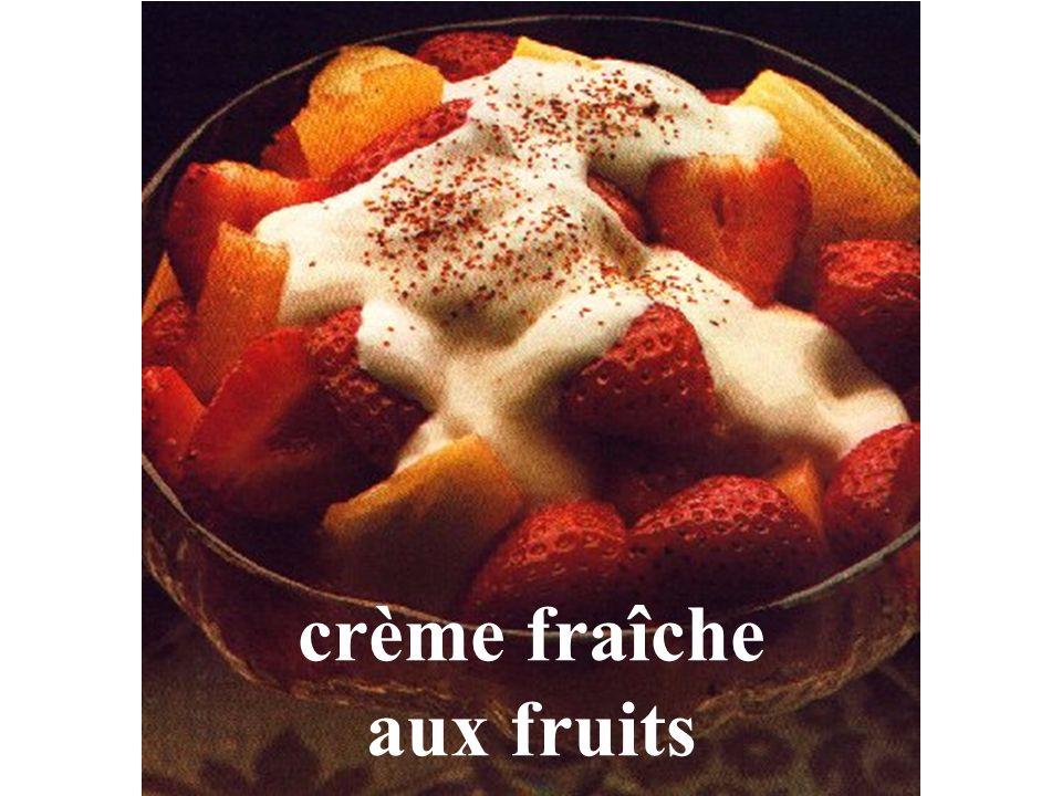 crème fraîche aux fruits