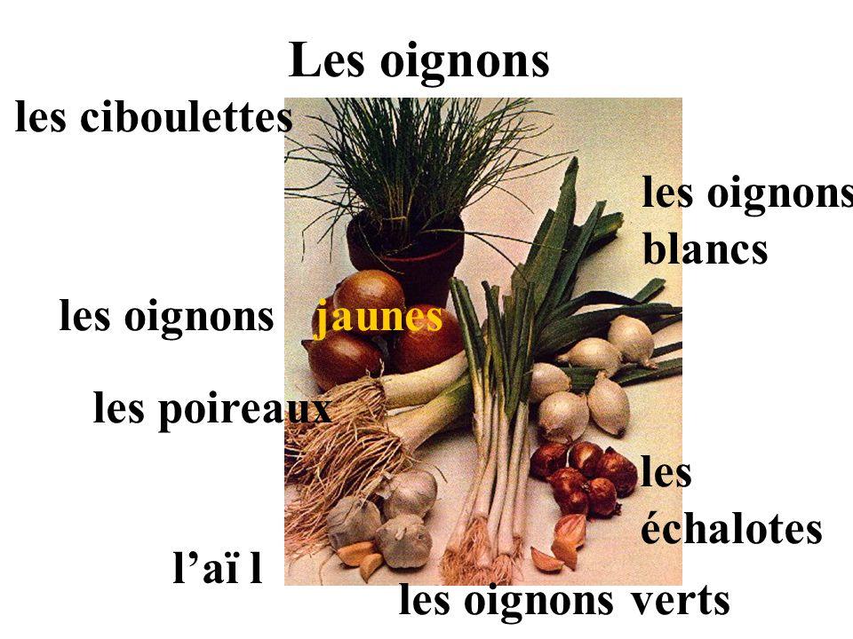 Les oignons les ciboulettes les oignons jaunes les poireaux laï l les oignons blancs les échalotes les oignons verts