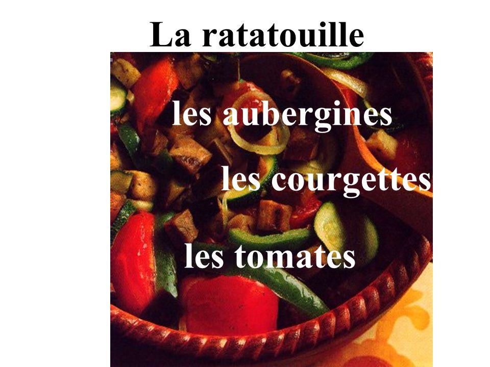 La ratatouille les aubergines les courgettes les tomates