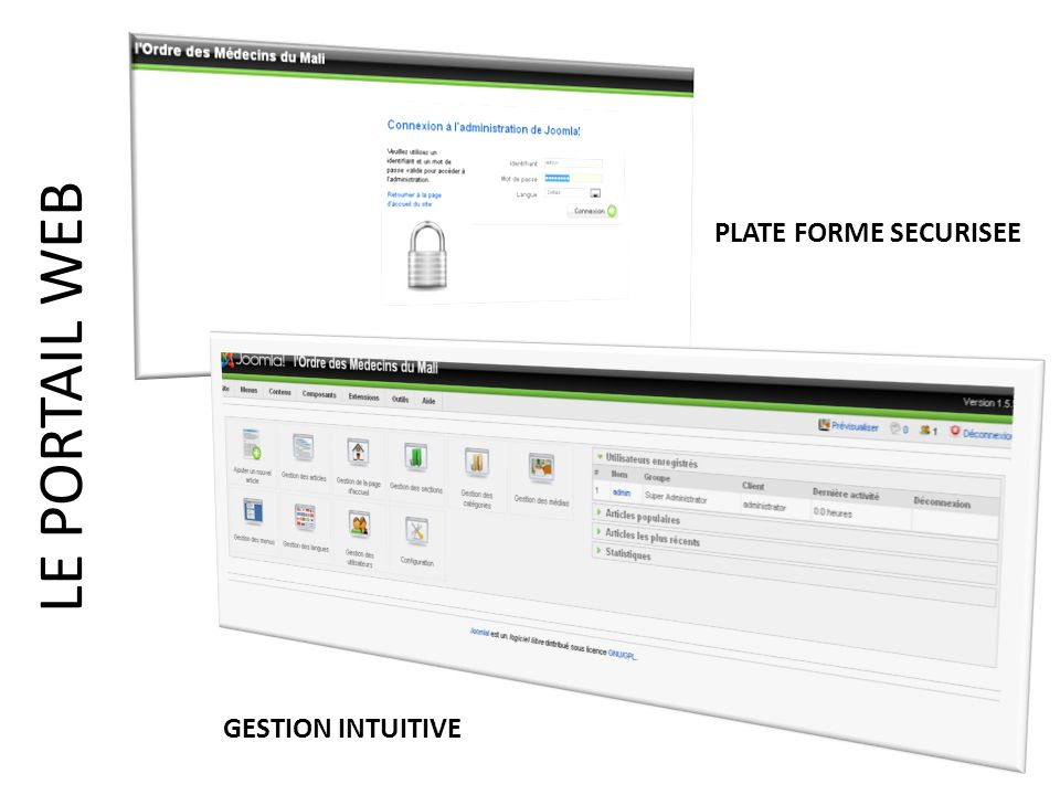 PLATE FORME SECURISEE GESTION INTUITIVE