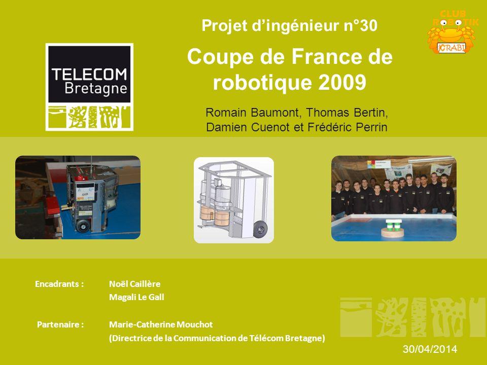 Projet dingénieur n°30 Coupe de France de robotique 2009 Encadrants : Noël Caillère Magali Le Gall Partenaire : Marie-Catherine Mouchot (Directrice de