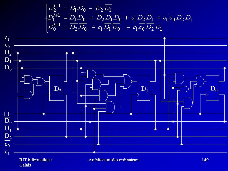 IUT Informatique Calais Architecture des ordinateurs149